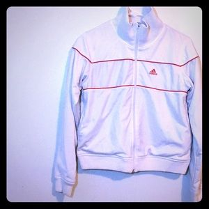 Women's adidas track jacket white size small